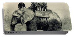 A Farewell Ride On Jumbo From The Illustrated London News Portable Battery Charger