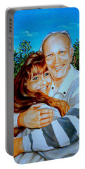 A Father And Daughter Portable Battery Charger by Ruanna Sion Shadd a'Dann'l Yoder
