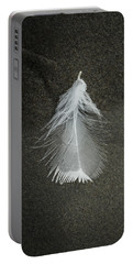 A Feather At The Edge Of The Water Portable Battery Charger
