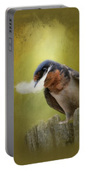A Feather For Her Nest Portable Battery Charger by Jai Johnson