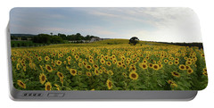 A Field Of Sunflowers Portable Battery Charger