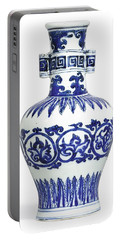 A Fine And Rare Blue And White 'arrow' Vase Mark And Period Of Wanli Portable Battery Charger