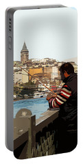 A Fisherman In Istanbul Portable Battery Charger