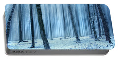A Forest In Winter Portable Battery Charger