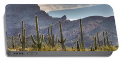 A Forest Of Saguaro Cacti Portable Battery Charger