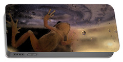 Portable Battery Charger featuring the digital art A Frogs World by Holly Ethan