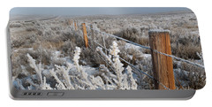 A Frosty And Foggy Morning On The Way To Steamboat Springs Portable Battery Charger