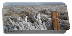 Portable Battery Charger featuring the photograph A Frosty And Foggy Morning On The Way To Steamboat Springs by Cascade Colors