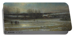 A Frosty Night   The Frozen Mill Pond Portable Battery Charger