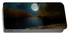 A Full Moon On A River. Portable Battery Charger