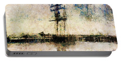Portable Battery Charger featuring the photograph A Gallant Ship by Claire Bull