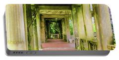 A Garden House Entryway. Portable Battery Charger
