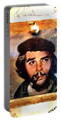 A Garlicky Che Guevara In Havana  Portable Battery Charger