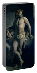 A Gaul And His Daughter Imprisoned In Rome Portable Battery Charger by Felix-Joseph Barrias