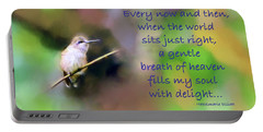 Portable Battery Charger featuring the photograph A Gentle Breath Of Heaven by Kerri Farley