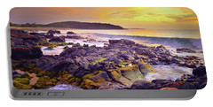 Portable Battery Charger featuring the photograph A Gentle Wave At Sunset by Tara Turner