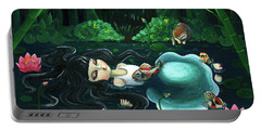 A Girl Of The Night Portable Battery Charger