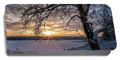 Portable Battery Charger featuring the photograph A Glenmore Sunset by Brad Allen Fine Art