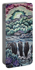 Portable Battery Charger featuring the painting A Glimpse Of Time by Cheryl Pettigrew