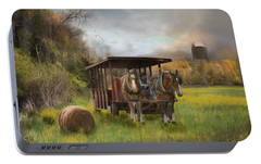 Portable Battery Charger featuring the photograph A Golden Day by Robin-Lee Vieira