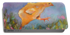 Portable Battery Charger featuring the painting A Gracious Friend by Wendy Ray
