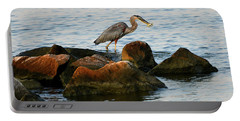 A Great Blue Heron Day Portable Battery Charger