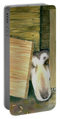 Portable Battery Charger featuring the painting A Great Escape  -variation 2 by Yoshiko Mishina