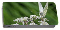A Green-veined White (pieris Napi) Portable Battery Charger by John Edwards