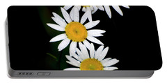 Portable Battery Charger featuring the digital art A Group Of Wild Daisies by Chris Flees