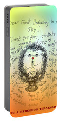 A Hedgehog Thanksgiving Portable Battery Charger by Denise Fulmer