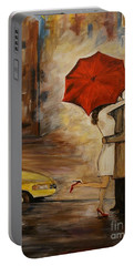 A Hello Kiss Portable Battery Charger