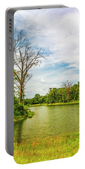 A Hot Day At The Pond Portable Battery Charger by Nancy Marie Ricketts