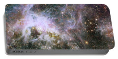 Portable Battery Charger featuring the photograph A Hubble Infrared View Of The Tarantula Nebula by Nasa