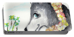 A Husky In Paradise Portable Battery Charger