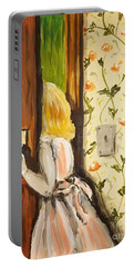 Portable Battery Charger featuring the painting A Journey Begins by Maria Langgle