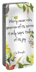 Portable Battery Charger featuring the digital art A Joy Filled Fall  by Colleen Taylor