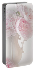 A Jug Of Soft Pink Peonies Portable Battery Charger
