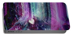 Portable Battery Charger featuring the digital art A Kind Heart by Linda Sannuti
