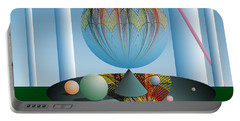 Portable Battery Charger featuring the digital art A Kind Of Magic by Leo Symon