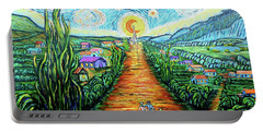 Portable Battery Charger featuring the painting A La Vincent by Viktor Lazarev