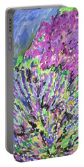 Portable Battery Charger featuring the painting A Lavender Floral by Esther Newman-Cohen