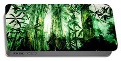 Portable Battery Charger featuring the painting A Light In The Forest by Seth Weaver