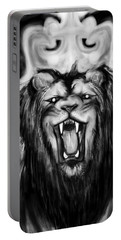 A Lion's Royalty B/w Portable Battery Charger
