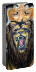A Lion's Royalty Portable Battery Charger