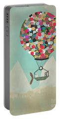 Portable Battery Charger featuring the painting A Little Adventure by Bri B