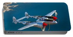 A Lockheed P-38 Lightning Fighter Portable Battery Charger by Scott Germain
