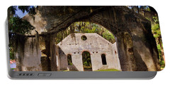 A Look Into The Chapel Of Ease St. Helena Island Beaufort Sc Portable Battery Charger