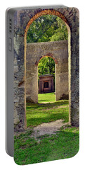 A Look Through Chapel Of Ease St. Helena Island Beaufort Sc Portable Battery Charger