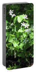 Portable Battery Charger featuring the photograph A Lovely Spot For Shamrocks by Nancy Lee Moran