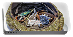 Portable Battery Charger featuring the photograph A Man's Items by Walt Foegelle